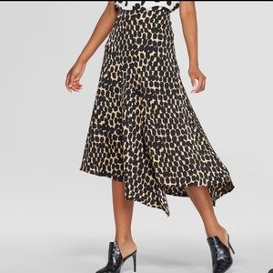 Who What Wear leopard print skirt